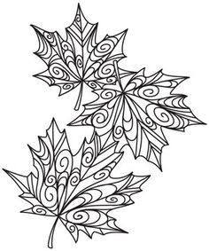 Delicate Autumn Leaves from the most awesome hand embroidery pattern site! Gotta remember this site!
