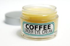 Natural Handmade Coffee Eye Cream - One 1 oz./28 gram jar. This all natural eye cream is a spin off of a natural under eye cream recipe I created for my blog back in December. Because it turned out to be so popular among my friends and readers I improved on the recipe and am now offering it for sale.   This natural cream starts with coffee infused in evening primrose oil, hemp seed oil and olive oil which is then combined with shea and cocoa butters, jojoba oil, rose hip seed oil, lavender…