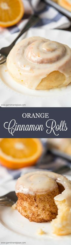 Make Christmas morning even better by serving these light and fluffy Orange Cinnamon Rolls! I might experiment with GF flour Brunch Recipes, Sweet Recipes, Dessert Recipes, Orange Cinnamon Rolls, Orange Sweet Rolls, Delicious Desserts, Yummy Food, Christmas Morning, Sweet Bread