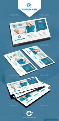 Home Health Care Business Card Templates by grafilker Fully layeredINDDFully Dpi, CMYKIDML format openIndesign or laterCompletely editable, print ready Text/Font or C Business Card Maker, Business Cards Layout, Unique Business Cards, Business Card Design, Corporate Business, Business Card Template Photoshop, Business Postcards, Photography Business Cards, Home Health Care