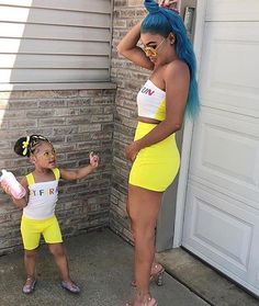 ladies how many of y'all would match with your daughter? (dm for cheap promo Cute Mixed Babies, Cute Black Babies, Black Baby Girls, Cute Baby Girl, Cute Little Girls Outfits, Mommy And Me Outfits, Family Outfits, Kids Outfits, Cute Outfits