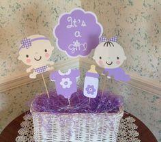 Resultado De Imagen Para Centros De Mesa De Baby Shower Para Gemelos
