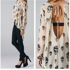 Clothing with skull design Punk Outfits, Mode Outfits, Skater Outfits, Scene Outfits, Disney Outfits, Skull Outfits, Looks Style, Style Me, Skull Fashion