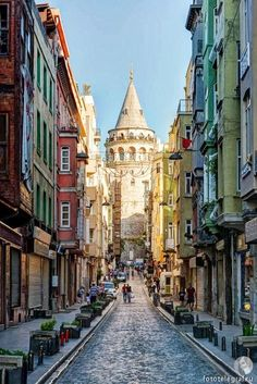 GALATA Tower, old town, Istanbul / Turkey