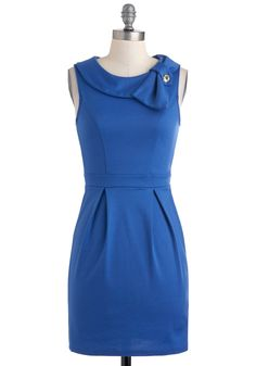 Career Flair Dress. As a young professional, youve cultivated a covetable mix of chic style and career confidence. #blue #modcloth