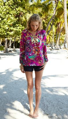 Lilly Pulitzer Elsa Top in Sea and Be Seen