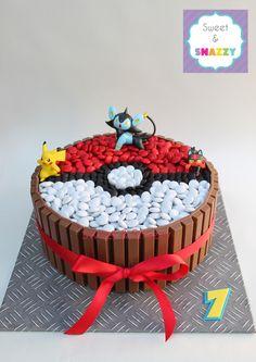 cake kitkat pikachu at DuckDuckGo Pokemon Cupcakes, Cake Pokemon, Pokemon Birthday Cake, Pikachu Cake, Pokeball Cake, Pokemon Pokemon, Torta Kit Kat, Pokemon Themed Party, 6th Birthday Parties