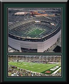 New York Jets MetLife Aerial View Large Stadium Poster With Team Photo