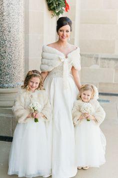 winter wedding bridesmaid girl dress - Google Search