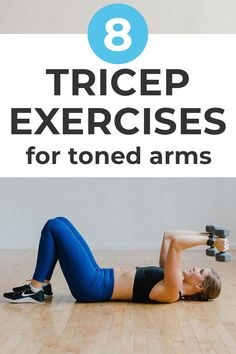 Tricep Workout Women, Best Tricep Exercises, Tricep Dips, Dumbbell Workout, Dumbbell Exercises For Women, Arm Workouts At Home, Toning Workouts, Strength Workout, Strength Training