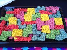 Tetris rice Krispy treats