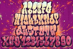 Граффити, алфавиты, шрифты, буквы | VK Graffiti Text, Graffiti Numbers, Grafitti Letters, Graffiti Lettering Alphabet, Graffiti Alphabet Styles, Chicano Lettering, Tattoo Lettering Fonts, Graffiti Characters, Graffiti Drawing