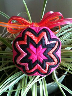 Fabric Christmas ornament by QuiltersPantry on Etsy, $18.00