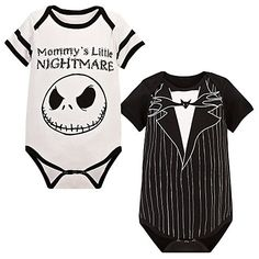 Nightmare before Christmas onesie. When I have kids they will wear these. :D