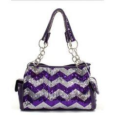 Chevron Sequins Handbag - (Multiple colors)