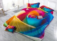 #rose #colorful #beddinginn #homedecor #interior Do you love it, the gorgeous rose pattern http://www.beddinginn.com/product/Big-Colorful-Rose-Digital-Print-4-Piece-Satin-Cotton-Duvet-Cover-Sets-11346904.html