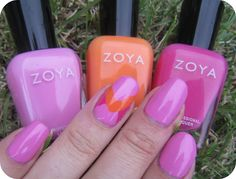 Concrete and Nail Polish: Zoya Shelby & A Pretty Accent Nail featuring Zoya Nail Polish in Lara and Zoya Arizona