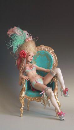 Antoinette Dream A Rococo Pin Up OOAK by Nicole West | eBay