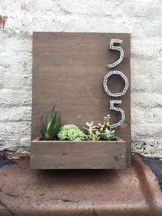 número da residência plantador, recipiente jardinagem, flores, jardinagem, projetos de carpintaria