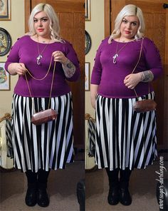 One of my favourite Spring outfits featuring an @ASOS.com.com.com skirt and @Jackie Godbold Gregory Be sweater! For full outfit details and more photos head to www.sugar-darling.com  #plussizepinup #plussize #plusfashion #plussizefashion #psbloggers #fbloggers #fatshion #vintagehair #pinup #bright #girlwithtattoos #fat #blonde #blondevintagehair