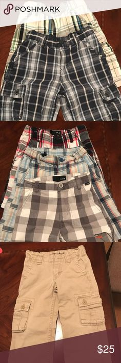 Boy's clothes 2 Levi's shorts size 7 , 3 Hurley shorts size 6, 1 hank shorts size 5, 3 shorts Hurley size 4, One Levi's pants size 4, 3 Dkny size 6, one t-shirt size 4/5 Levi's Other