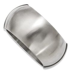 Chisel Stainless Steel Matte Finish Hinged Bangle Style#SRB680