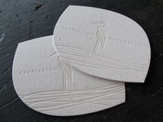Charleston Calling Cards | The Mandate Press | A Modern Letterpress Studio