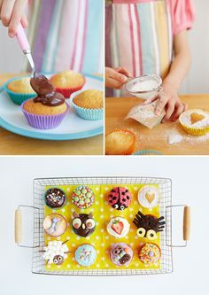 Aus den Lieblings-Muffins werden ganz schnell hübsche Cupcakes - zum Beispiel für den nächsten Kindergeburtstag. Wir hätten da ein paar Ideen, wie die Cupcakes zu lustigen Hinguckern werden. 21st Birthday, Birthday Cake, Wedding Dj, Corporate Events, Birthdays, Breakfast, Photo Booth, Fun, Pretty Cupcakes