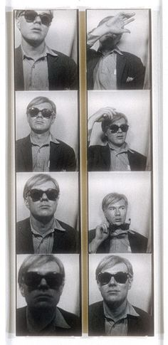 Andy Warhol: 'Photo Booth Self-Portrait' c. 1963. Gelatin silver prints and once owned by Robert Mapplethorpe. The Metropolitan Museum of Art, New York.
