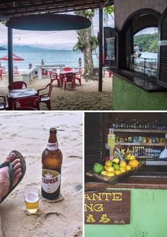 Restaurant Palmas on Ilha Grande, Brazil. Stop here for a drink or some lunch while doing the trek to Lopes Mendes | heneedsfood.com