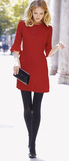cool valentines day outfit / red dress + bag + heels