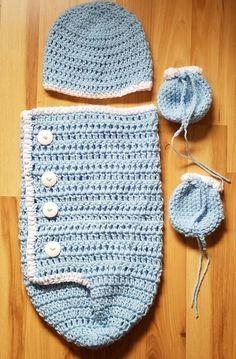Baby Boy Blue Cocoon Set