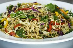 Asian Food Recipes with Pictures - Asian Noodle Salad - http://bestrecipesmagazine.com/asian-food-recipes-with-pictures-asian-noodle-salad/