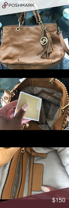 AUTHENTIC MICHAEL KORS BAG AUTHENTIC Brown Michael Kors bag... worn only once!!! In GREAT condition! Date code shown in images! KORS Michael Kors Bags