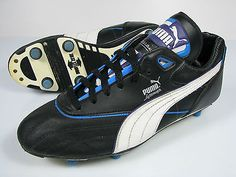 vintage PUMA GASCOIGNE Gazza Football Boots size UK 9 rare OG 90s made in 1991