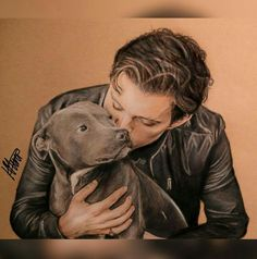 So adorable and so cute. It's a drawing of Tessa and Tom. This artist is very talented. I wish I knew the name of them.
