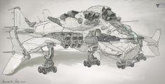 ArtStation - Dragon Airship concepts, Michal Kus