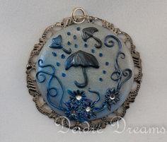 - SOLD - Goth Art Pendant  Original Wearable Art Jewelry  by DeidreDreams, €30.95