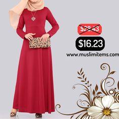 #muslimitems💥  Unlined Dress with Heart Shaped Necklace - Bordeaux SKU: MIWC810262192  #muslimitems-#abaya - #muslim fashion - #islamic #antiques - #quran - muslim hand #watch - #hijab - #jilbab - #jalabya - #arabic#robe - #thobe -islamic #art - #halal & #organic - #hijabstyle - #hijaber -#muslim art - #islamic #gift items -#wedding dress - skirt -  All about muslim life style shopping mall @ 💥👆www.muslimitems.com