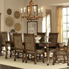 Beautiful Hill country dining room furniture