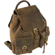 Green Burry Rucksack, Cityrucksack,Damenrucksack Leder Vintage sattelbraun in Kleidung & Accessoires, Damentaschen | eBay