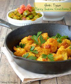 Gobi Tikka (Spicy Indian Cauliflower) by River (Wing-It Vegan), via Flickr