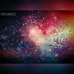 watercolours /nebula/ galaxy night sky