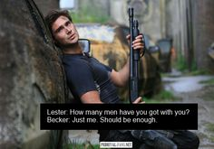 Captain Becker #Primeval he is worth a hundred men. He is that good x