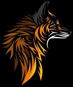 Tribal Fox, a t-shirt by albertocubatas at UmamiTees Animal Drawings, Art Drawings, Fuchs Tattoo, Tribal Fox, Desenho Pop Art, Fox Painting, Desenho Tattoo, Fox Art, Fox Design
