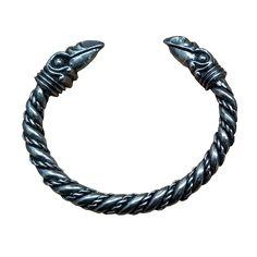 Chunky Odin's Raven Pewter Bracelet