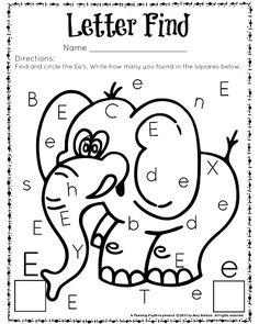 Letter Find worksheet for kindergarten and preschool. Great for letter…