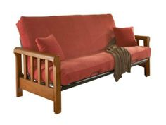 Leggett and Platt Fashion Bed Group Huntley Cherry Futon without Mattress, Full, Red by Leggett & Platt Fashion Bed Group. $285.99. Transitional Styling. Can be used in a family room, recreation room, study, dorm or bedroom. Rich Cherry Finish. Mattress and Cover Sold Separately. Offers classic lines and style. This transitional style futon can be used in a family room, recreation room, study, dorm or bedroom. The rolled arm and clean lines exude strength and beauty. This futon ...