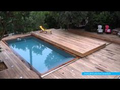 ▶ Terrasse mobile posée à Cap Ferret | Octavia Terrasses mobiles - YouTube Oh hell yeah! Love this pool cover concept! Modern, practical and not some big ass ugly tarp!
