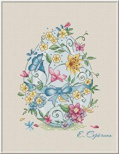 Вышивка крестиком Светлый праздник. Автор Екатерина Серёгина